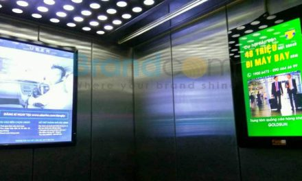 Quảng cáo Poster Frame thang máy